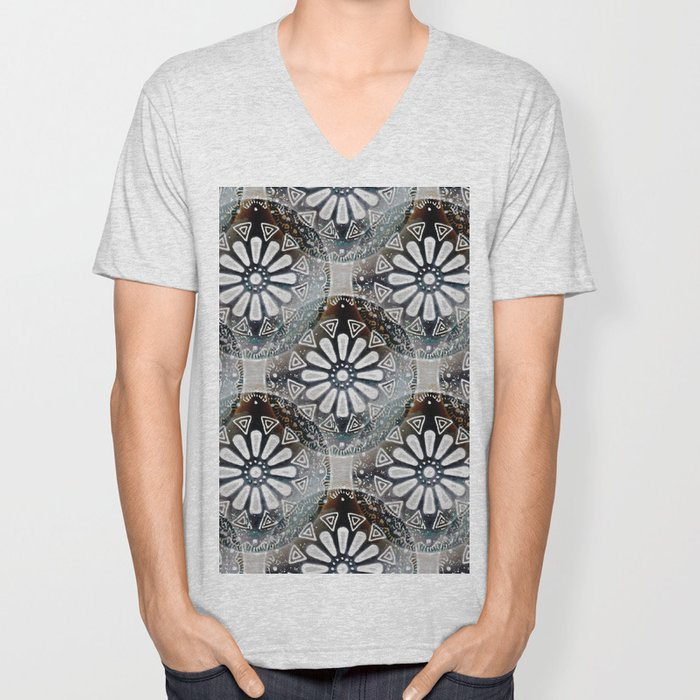 Medallions Re-visited 3 Unisex V-Neck