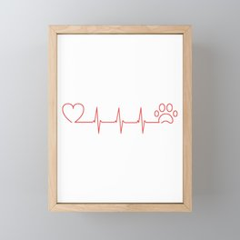 Pet heartbeat Framed Mini Art Print
