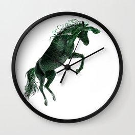 Happy Horse in Green Wall Clock