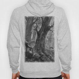 Enchanted Woods Secret Grove Magical Woodland Ancient Trees Bending Branch Forest Vibes Hoody