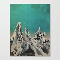 mountains Canvas Prints featuring Mountains by Amelia Senville