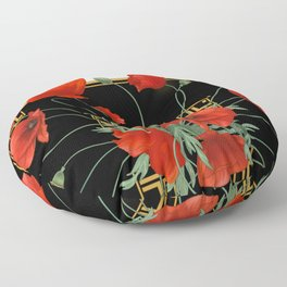 Poppy Stravaganza Floor Pillow