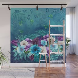 Blue Hawaiian Rain Forest Wall Mural