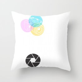 Photography Life Gets Blurry Adjust Your Focus Throw Pillow