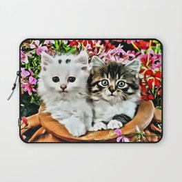 TWO CUDDLY KITTENS Laptop Sleeve