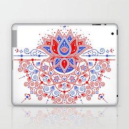 Sacred Lotus Mandala – Red & Blue Palette Laptop & iPad Skin