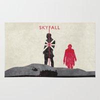 skyfall Area & Throw Rugs featuring Skyfall by Geminianum