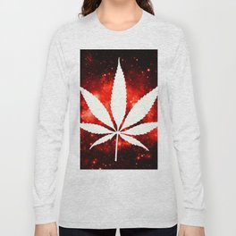 Weed : High Times Red Galaxy Long Sleeve T-shirt