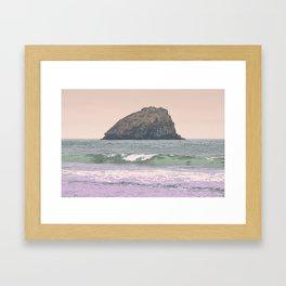 FALSE KLAMATH SEA STACK ON THE PACIFIC COAST CALIFORNIA  Framed Art Print