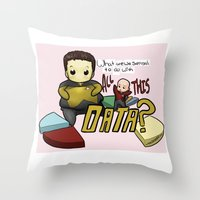 data Throw Pillows featuring Data Overload by Ai-hime