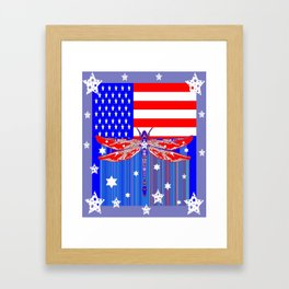 Red-White & Blue 4th of July Celebration Art Framed Art Print