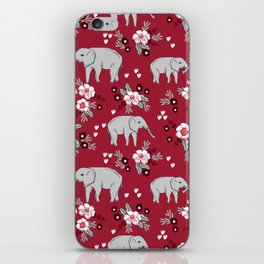Alabama university crimson tide elephant pattern college sports alumni gifts iPhone Skin