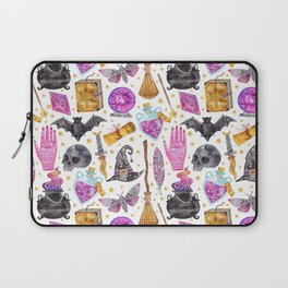 Pink gold black watercolor hand painted halloween pattern Laptop Sleeve