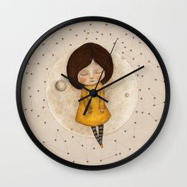 Moon Song 5 Wall Clock