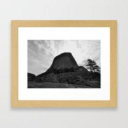 A Battle of Land and Sky Framed Art Print
