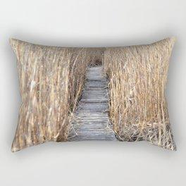 Through the reed Rectangular Pillow