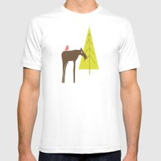 Moose Family 3 Mens Fitted Tee White SMALL