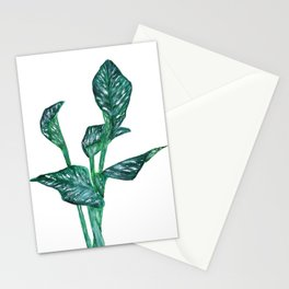 green calla lily Stationery Cards