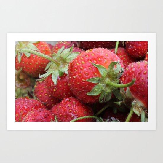 Delicious Strawberries Art Print
