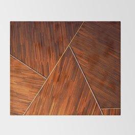 Geometric Grain Throw Blanket