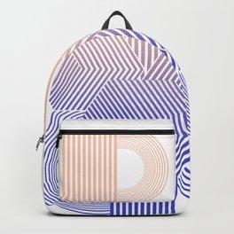 Minimal geometric stripes modern Backpack