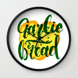 Garlic Bread Love Wall Clock
