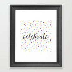 Celebration Lights Framed Art Print