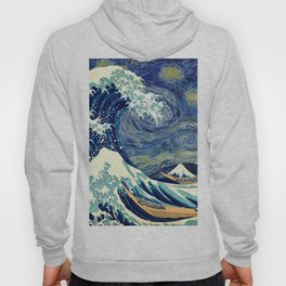 The Great Wave Off Kanagawa Starry Night Hoody