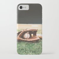 baseball iPhone & iPod Cases featuring BASEBALL by Ylenia Pizzetti