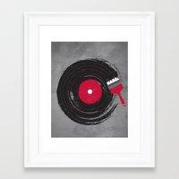record Framed Art Prints featuring Art of Music by dan elijah g. fajardo