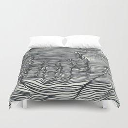 seismic waves Duvet Cover