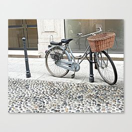 colonial bicycle Canvas Print