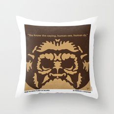No270 My PLANET OF THE APES minimal movie poster Throw Pillow