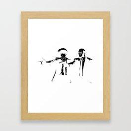 Cowboy Bebop - Spike Jet Knockout Black Framed Art Print