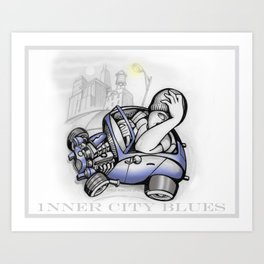 inner city blues Art Print