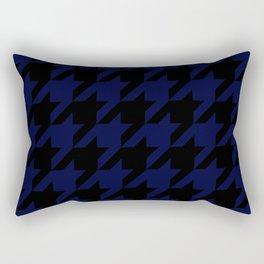 Mightnight Blue & Black Houndstooth/Dogtooth Rectangular Pillow