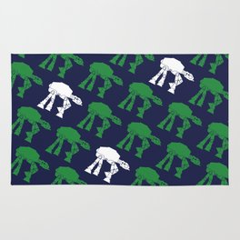 AT-AT's in Green and White on Navy Rug