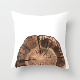 Slice of time (watercolor painting) Throw Pillow