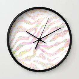 pastel zebra pattern Wall Clock