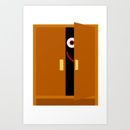 Ghost in the Cupboard Art Print