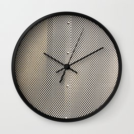 Metal Panel with Holes Wall Clock