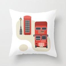 London icon Throw Pillow