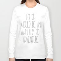 peter pan Long Sleeve T-shirts featuring Peter Pan by Zhavorsa