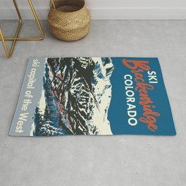Blue Breckenridge Vintage Ski Poster Rug