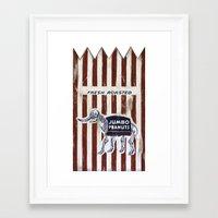 peanuts Framed Art Prints featuring Jumbo Peanuts by Carl Floyd Medley III
