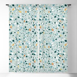 Mint Terrazzo #pattern #abstract Blackout Curtain