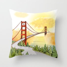 San Francisco Horizon Throw Pillow