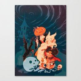 Spooky Books Canvas Print
