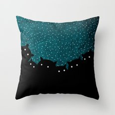 Squirrels by night #1 Throw Pillow