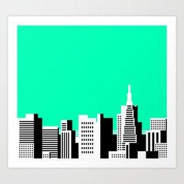 Cityscape #44 Version 2 Art Print